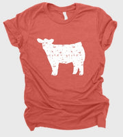 Cow (white distressed)