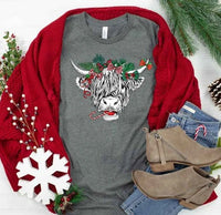 Festive Shaggy Cow