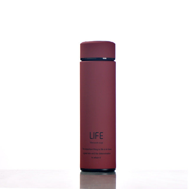 Cylinder Stainless Steel Water Bottle