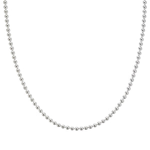 Palas | Silver Ball Chain 90cm Necklace