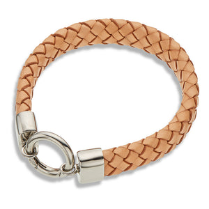 Palas | Wide Natural Leather Bracelet