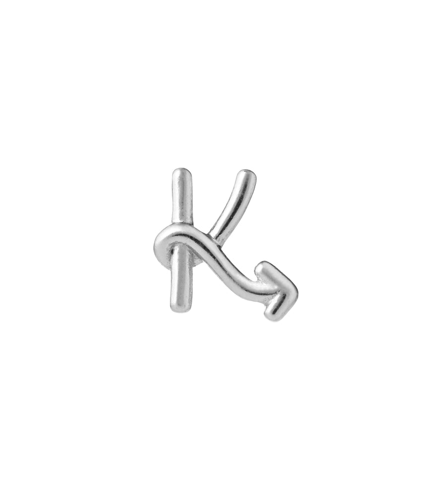 Karen Walker | Single Initial Stud Silver