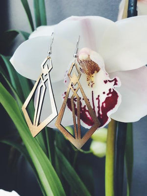 Leather Foiled | Nyx Earrings