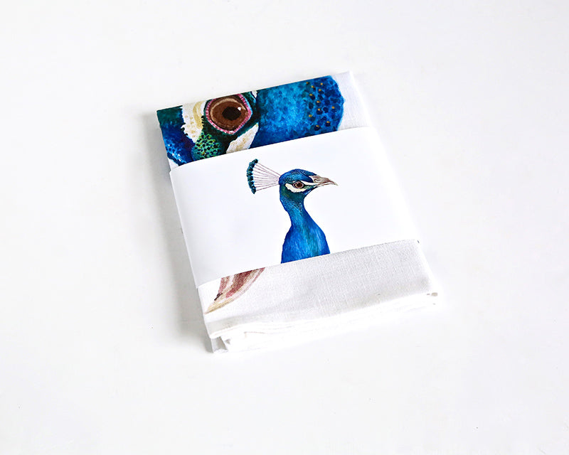 For Me By Dee | Tea Towel | Penny the Peacock