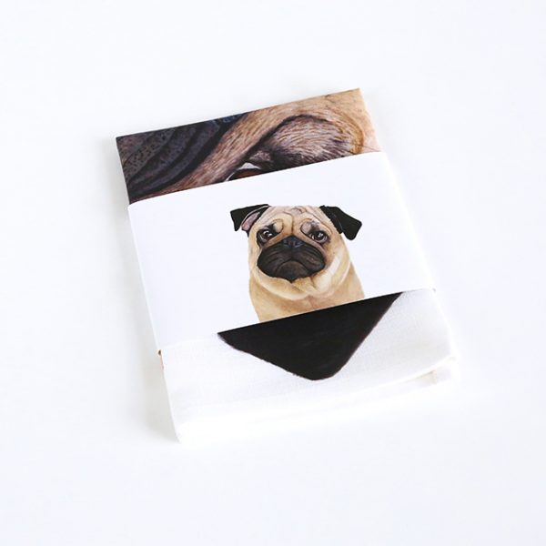 For Me By Dee | Tea Towel | Pedro the Pug