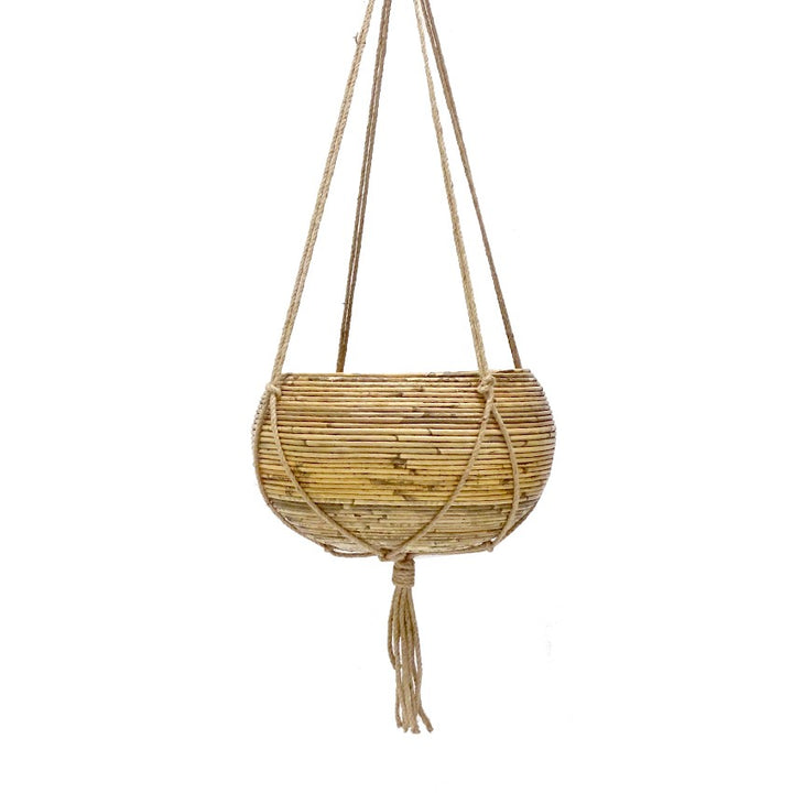 Rattan | Bowl Hanging Basket Large