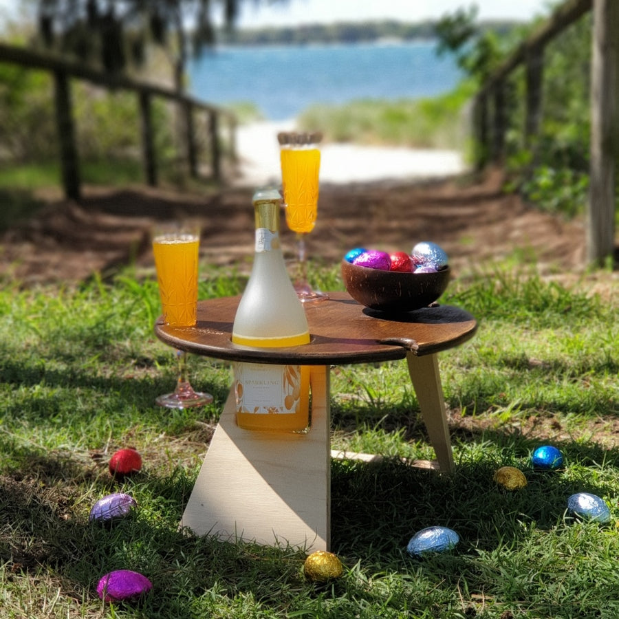 Picnic Tables | Round Chocolate Folding Picnic Table