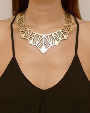 Leather Foiled | Chrysler Necklace