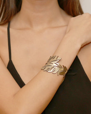 Leather Foiled | Feather Cuff