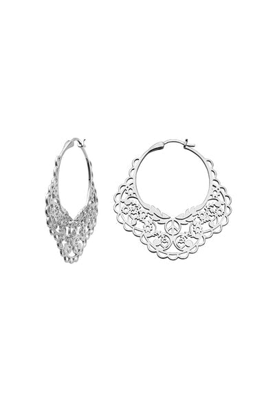 Karen Walker | Filigree Hoops Silver