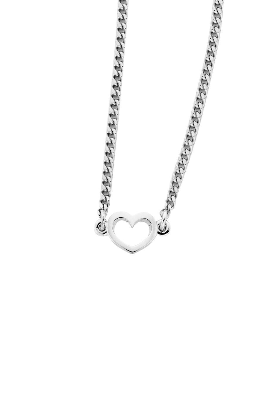 Karen Walker | Mini Heart Necklace Silver
