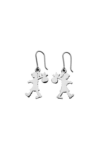 Karen Walker | Runaway Girl Earrings Silver