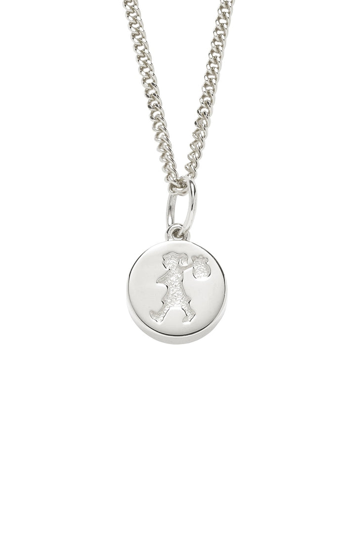 Karen Walker | Runaway Stamp Necklace Silver