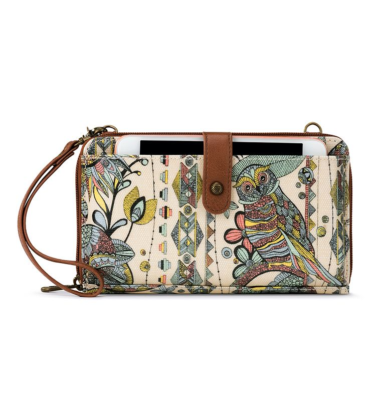 Sakroots  | Large Smartphone Crossbody Purse | Sunshine Spirit Desert