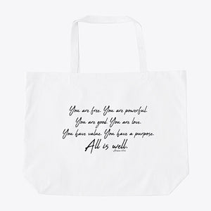 ALL IS WELL - SELF LOVERY OVERSIZED TOTE BAG