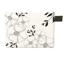 Load image into Gallery viewer, FOR THE LOVE OF FLORALS ZIPPER CARRY-ALL POUCH