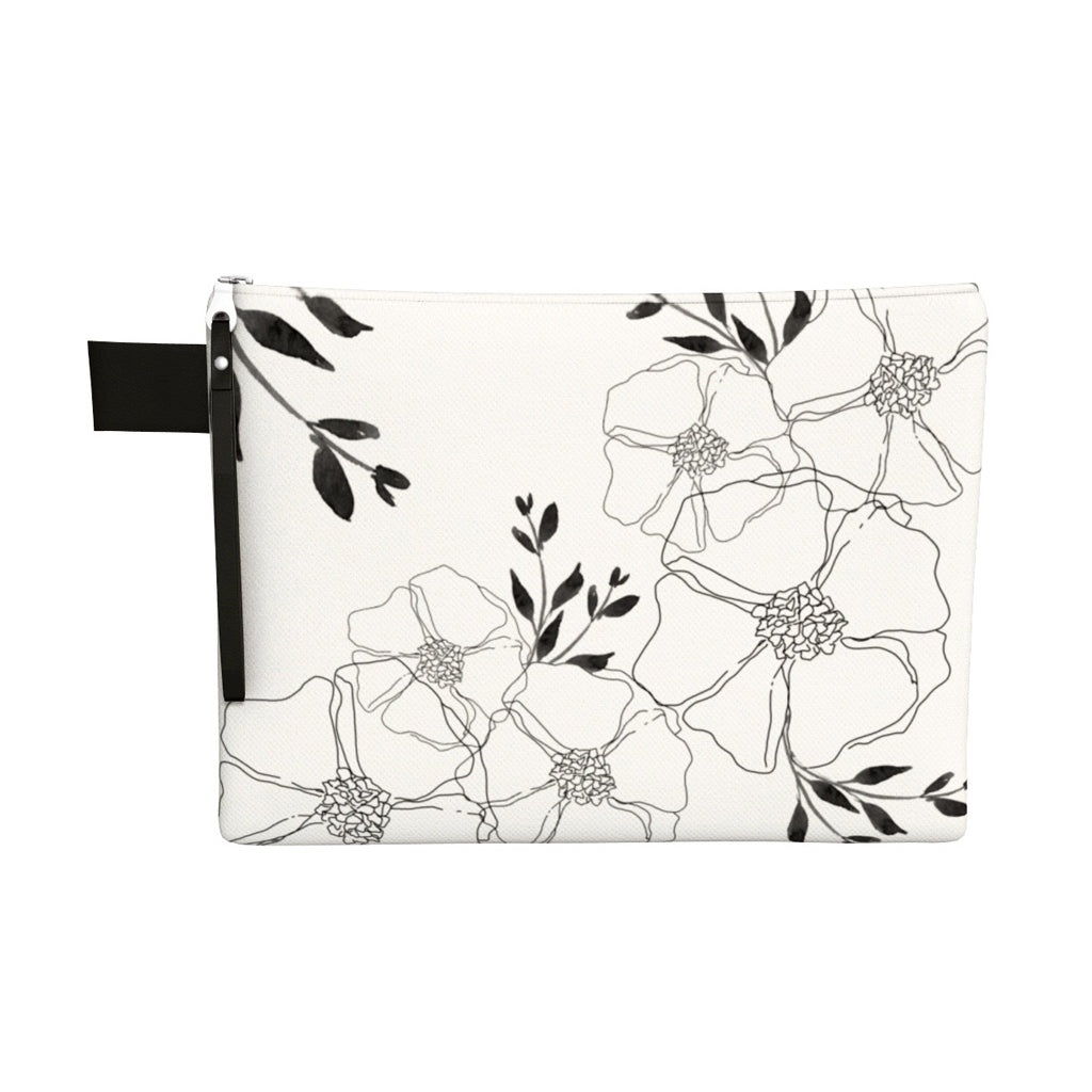 FOR THE LOVE OF FLORALS ZIPPER CARRY-ALL POUCH