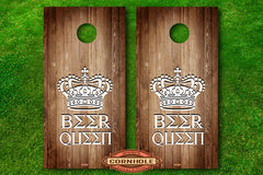 Beer Queen Cornhole decal wraps