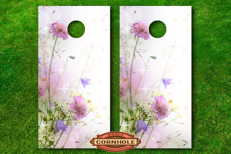 Delicate Flowers Cornhole Board Decals