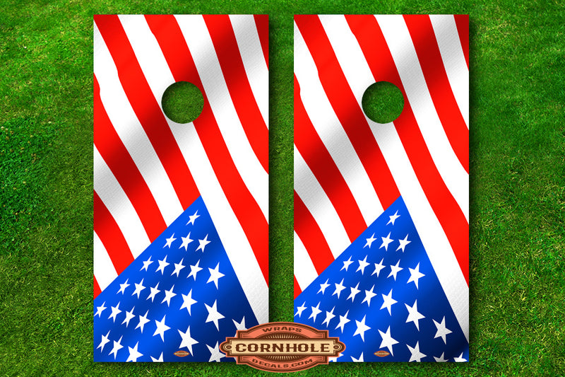 American Flags Decals Baggo Board Wraps