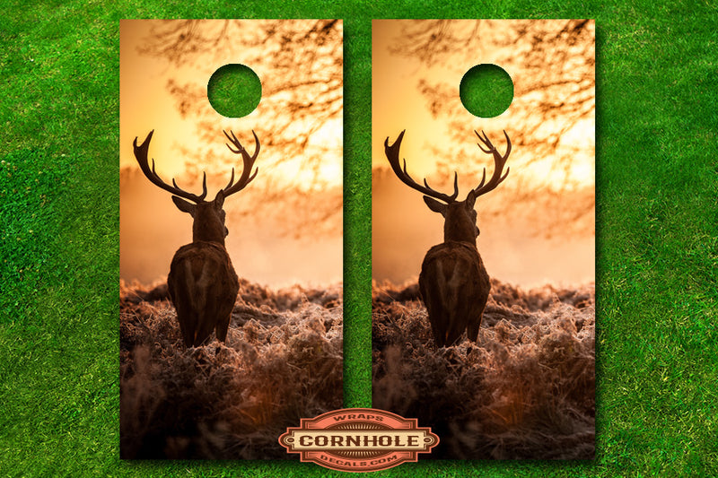 lone-stag-deer-buck-hunting-forest-cornhole-board-wraps