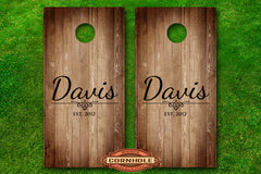 family-monogram-last-name-date-established-cornhole-board-decals