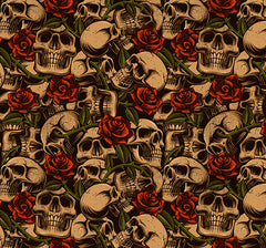 skulls and roses cornhole decals