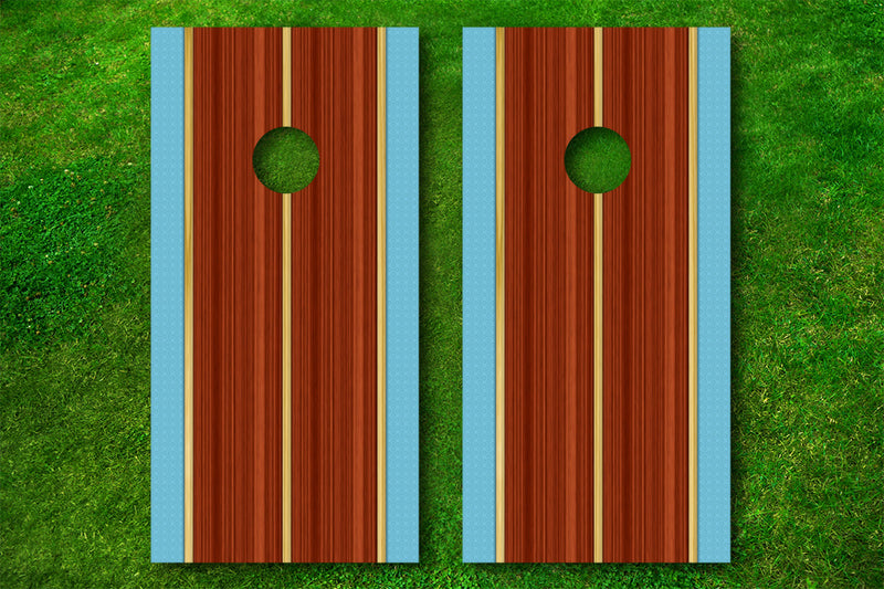 The Woodie Cornhole Board Decals