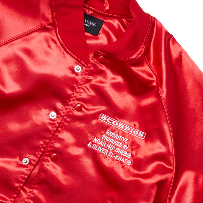 Tour Satin Jacket Red