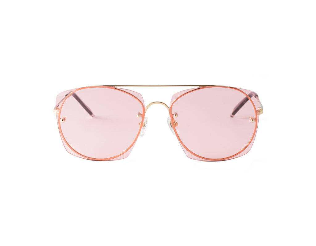 pink lens, shades, sunglasses, scene number for