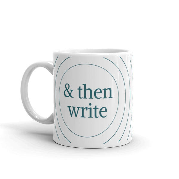 & then write coffee mug