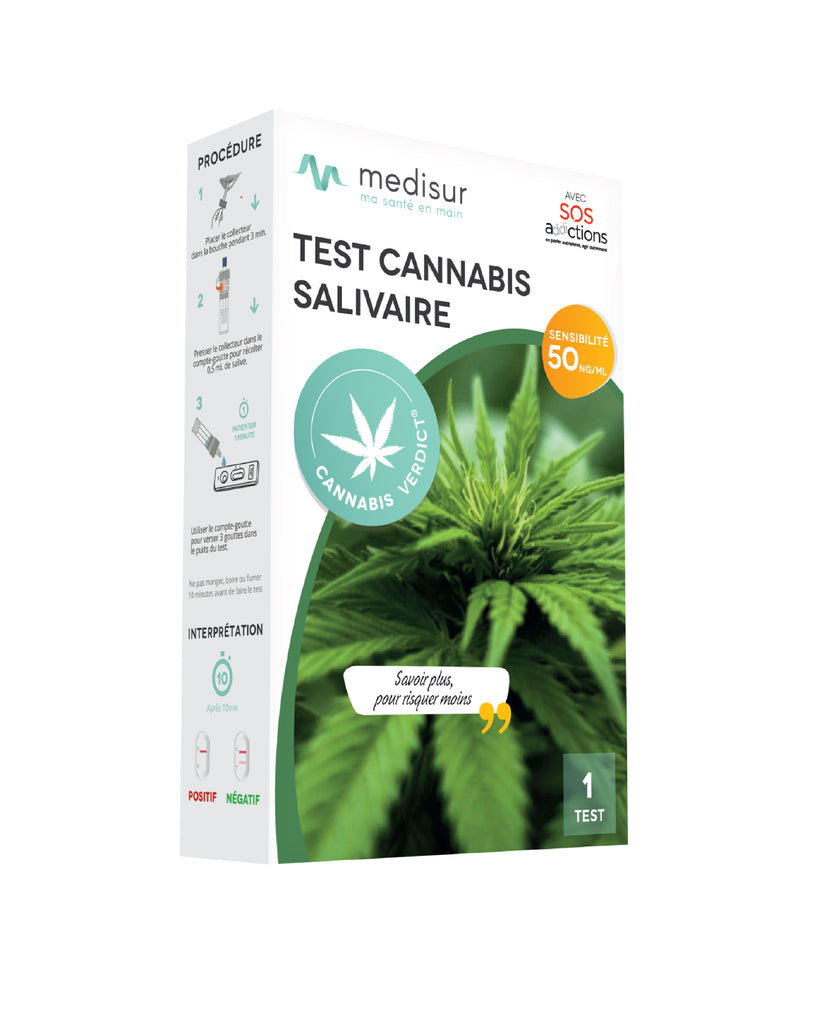 Cannabis Verdict - test salivaire de détection du cannabis