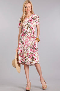 ba0427cb878 Vintage Floral Button Down Dress. Dove   Lily Boutique. Regular price   45.00 · Pink Floral Dress
