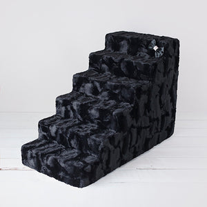 6 Step Luxury Pet Stairs - Black