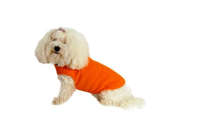 Solid Fleece Coat-Orange