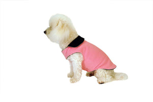 Solid Fleece Coat-Pink