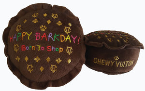 Chewy Vuiton  Happy Barkday Cake Dog Toy Small