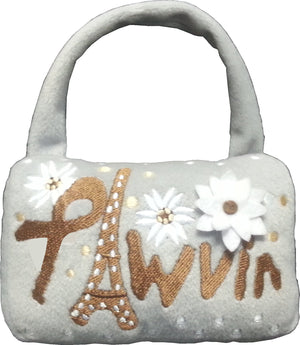 Pawvin Eiffel Tower Minaudiere Purse Dog Toy