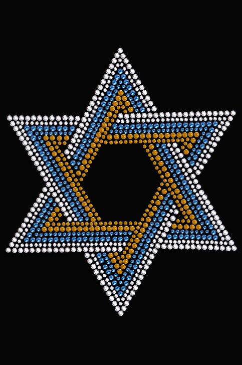 Star Of David (Blue, Silver, Gold)