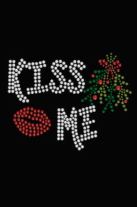 Kiss Me under the Mistletoe Dog Tank- Lime
