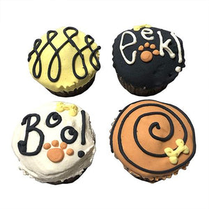 Fall Dog Cupcakes - Perishable (6 Cupcakes)