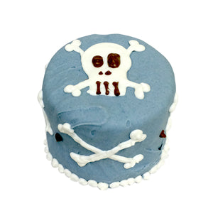 Blue Skull Baby Cake in a Box