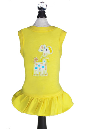 Yellow Baby Safari Dog Dress at Chloe Cole Pet Couture