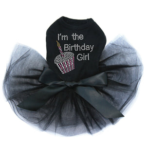 I'm The Birthday Girl Dog Tutu-Black