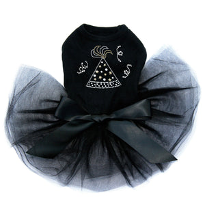 Party Hat Dog Tutu - Black