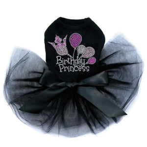 Princess Birthday Dog Tutu - Black