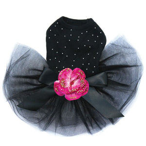 Rhinestone Black Dog Tutu Cute Dog Dress