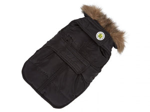 Aspen Black Puffer Dog Coat
