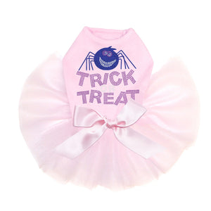 Trick or Treat with Blue Glitter Spider - Tutu - Black, Pink or Red