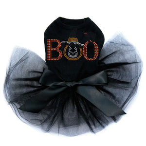 Boo Cat and Hat Tutu Dress - Black